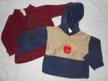 BOYS 2 Piece Lot  Sweater HOODIE Jacket  OLD NAVY 18-24 Months 18M 24M