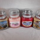 SCENTED Jar CANDLES Asian Plum Teakwood Hope Summer Love MIA BELLA'S Mia Bella