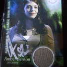 SUPERNATURAL Signed LENORE COSTUME Pieceworks Card PW-8 AMBER BENSON Tara BUFFY