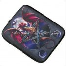 "Lunar Magic DRAGON LAPTOP SLEEVE 14"" w/ Pentagram PENTACLE Wicca MOON (#D1314)"