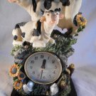 COW CLOCK For Desktop Mantel Or Shelf COWS With Sunflowers