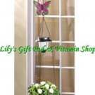 Solar Powered BUTTERFLY Hanging PLANT BASKET Outdoor GARDEN Decor (#14631)