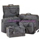 Gray LUGGAGE SET Duffle Bag Garment Bag Carry On Travel 5 Piece Set (#21943)