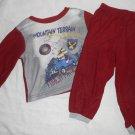 BOYS Pajama Set SLEEPWARE Burgandy 24 Months 24M Kids Clothes Mountain Terrain