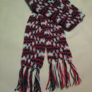 "Custom Handmade Holiday SCARF Mistletoe CHRISTMAS Red Green and White 75"" SCARVE"