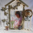 "WINDOW SILL PHOTO FRAME Garden Theme Holds 4"" x 6"" Picture (#34695)"