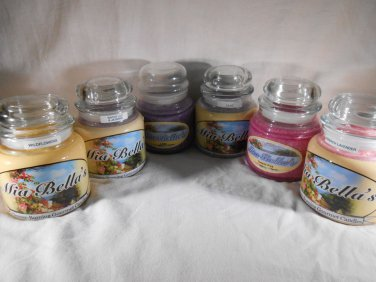FLORAL SCENTED Jar CANDLE Lavender Lilac Jasmine Flowers NATURAL WAX Mia Bella's
