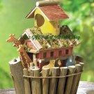 Noah's Ark BIRDHOUSE Biblical Outdoor SPRING TIME Garden Bird House (#31248)
