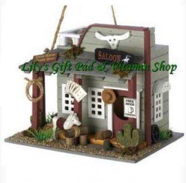 Wild Horse Saloon BIRDHOUSE Western Outdoor SPRING Garden Birds (#13777)