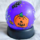 Purple HALLOWEEN Light Up GLOBE Ghost Skeleton BAT Pumpkins Spooky (#34840)