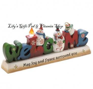 Glowing WINTER WELCOME CHRISTMAS Tabletop Decoration HOLIDAYS (10015450)