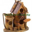 Bird Cafe BIRDHOUSE Cottage Outdoor SPRING TIME Garden Bird Houses (#12604)