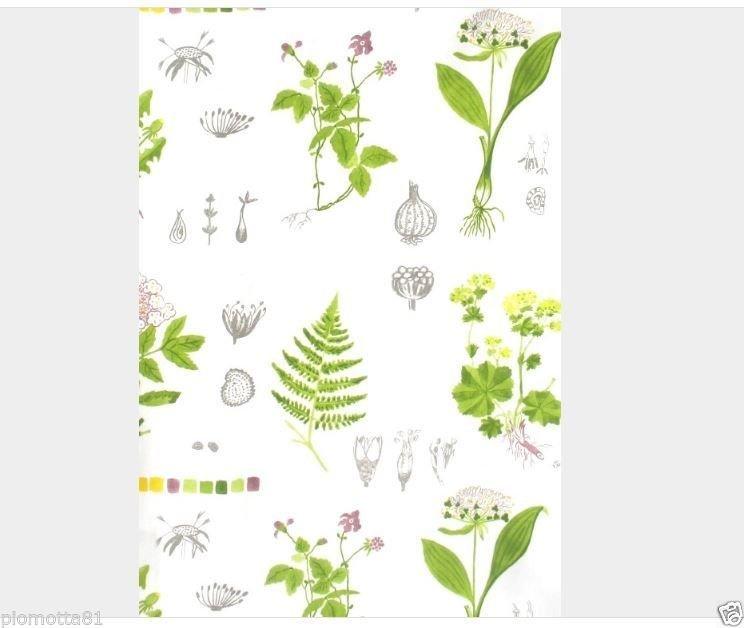 IKEA DORTHY Fabric Material White Multicoloured/1 meter