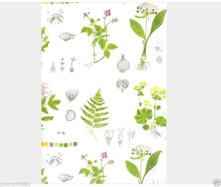 IKEA DORTHY Fabric Material White Multicoloured/2 meter
