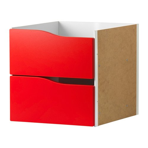 IKEA KALLAX Insert with 2 drawers /Red/ 403.015.72/SIZE 33 X 33 CM