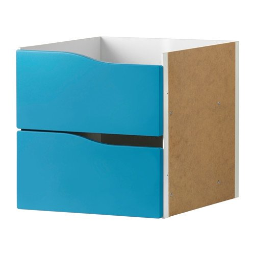 IKEA KALLAX Insert with 2 drawers /Turquoise/ 203.015.73/SIZE 33 X 33 CM