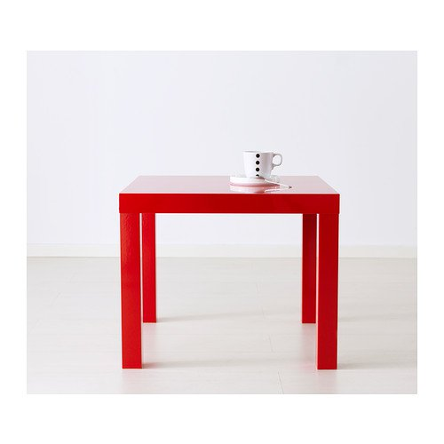 IKEA Lack Side End Coffee Table/High-Gloss Red/ 55x55 cm
