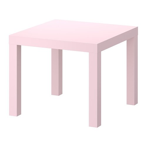 IKEA Lack Side End Coffee Table/Pink/ 55x55 cm