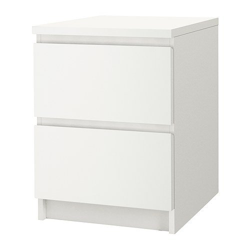 IKEA MALM Chest of 2 drawers /White/802.145.49/Brand New
