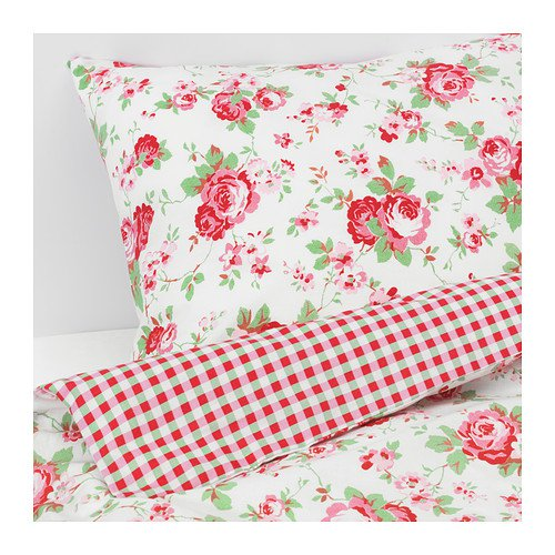 IKEA ROSALI N Cath Kidston in White King Size Duvet Cover Bedding Bed Set
