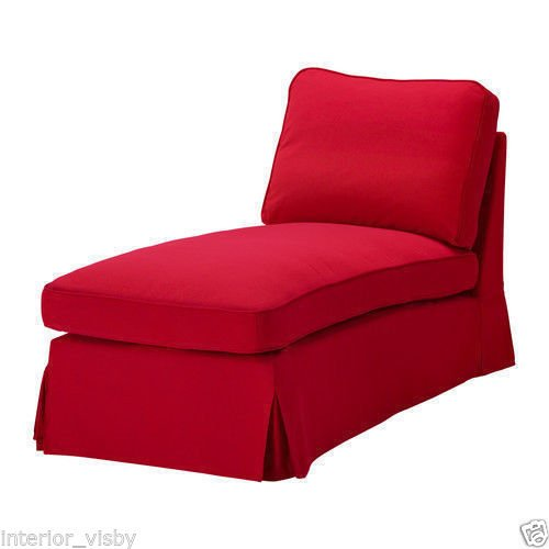 IKEA EKTORP FREE STANDING CHAISE LOUNGE COVER SET IDEMO RED/301.835.88