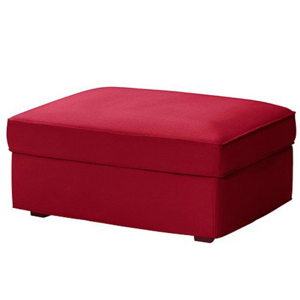 IKEA Kivik Footstool Slipcover For Ottoman Hocker & Foot Stool Dansbo Red