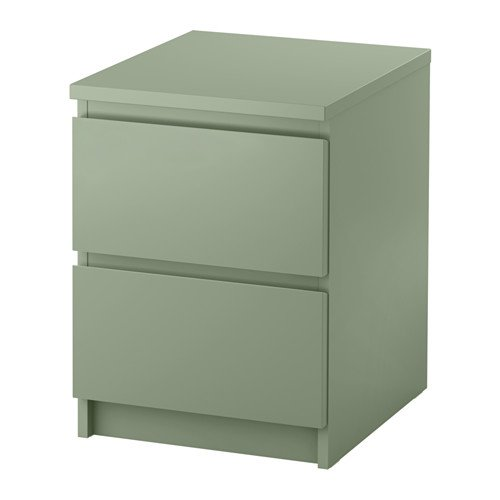 IKEA MALM Chest of 2 drawers /Light Green/503.113.11/Brand New
