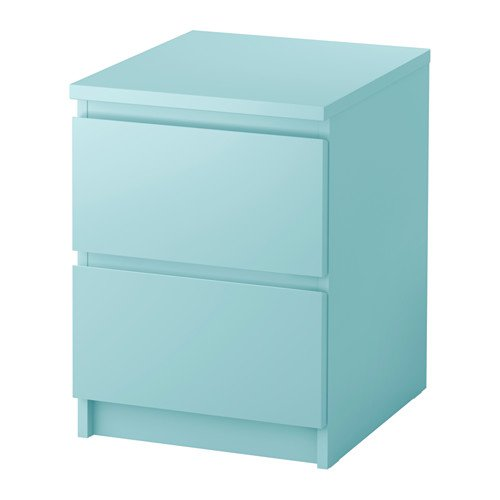 IKEA MALM Chest of 2 drawers /Light Turquoise/903.152.94/Brand New