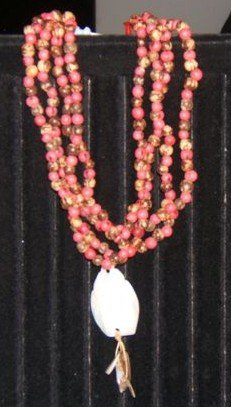 Pink Acai bead necklace