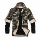 NT00029 Men's Leisure Cotton Blended Jacket Coat - Camouflage (M)