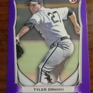 2014 Bowman Purple Tyler Danish #BP54 Chicago White Sox