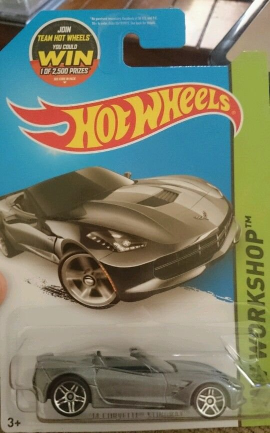 2014 HotWheels Stingray Corvette Diecast Car #216/250