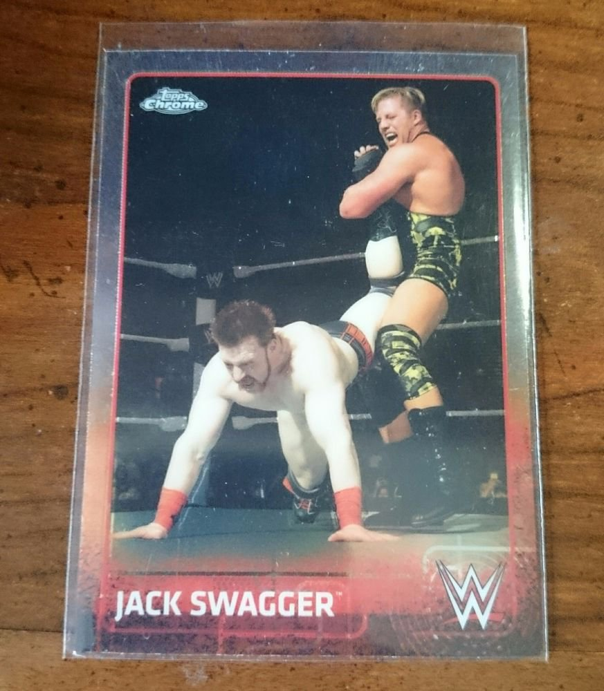 2015 TOPPS CHROME WWE #34 JACK SWAGGER