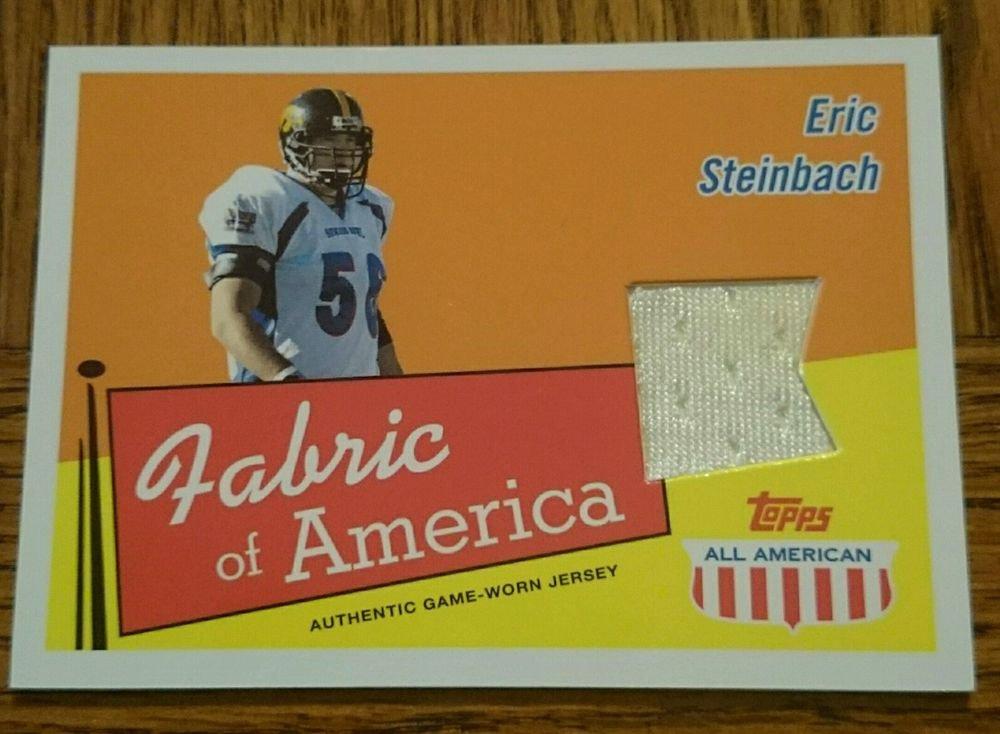 2003 Topps All American Fabric of America #FA-ES Eric Steinbach
