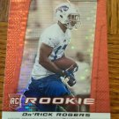 2013 Panini Prizm Red Pulsar #221 Da'Rick Rogers Buffalo Bills