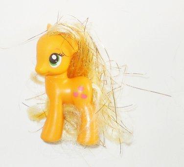 "2011 Hasbro My Little Pony G4 MLP 2"" Applejack Symbol On Left Side Tinsel Hair"