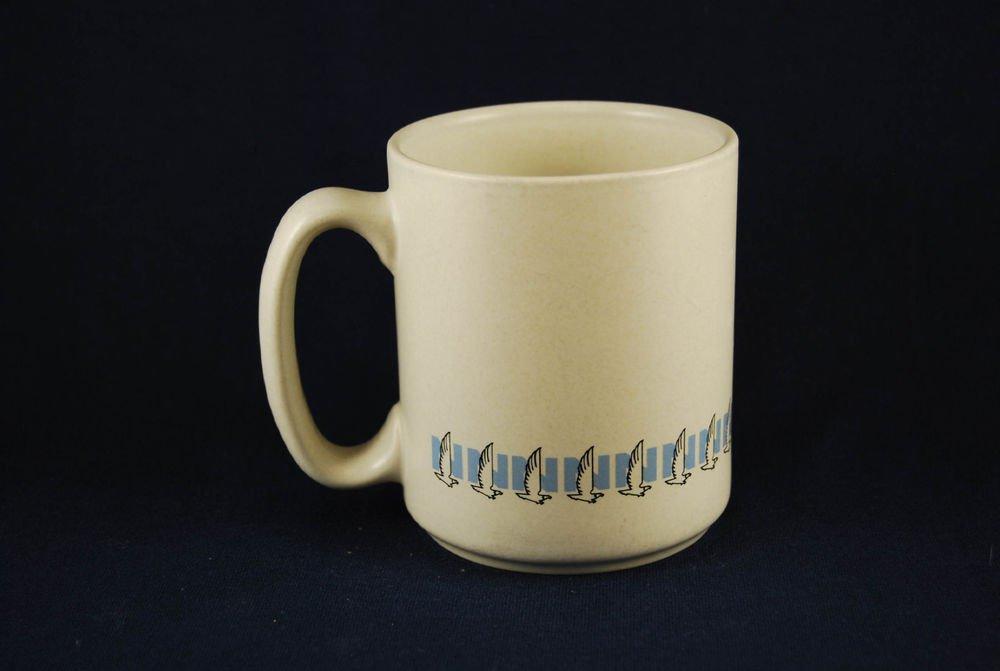 Nationwide Insurance Logo Ceramic Coffee Mug Cup Off White Pfaltzgraff Eagle