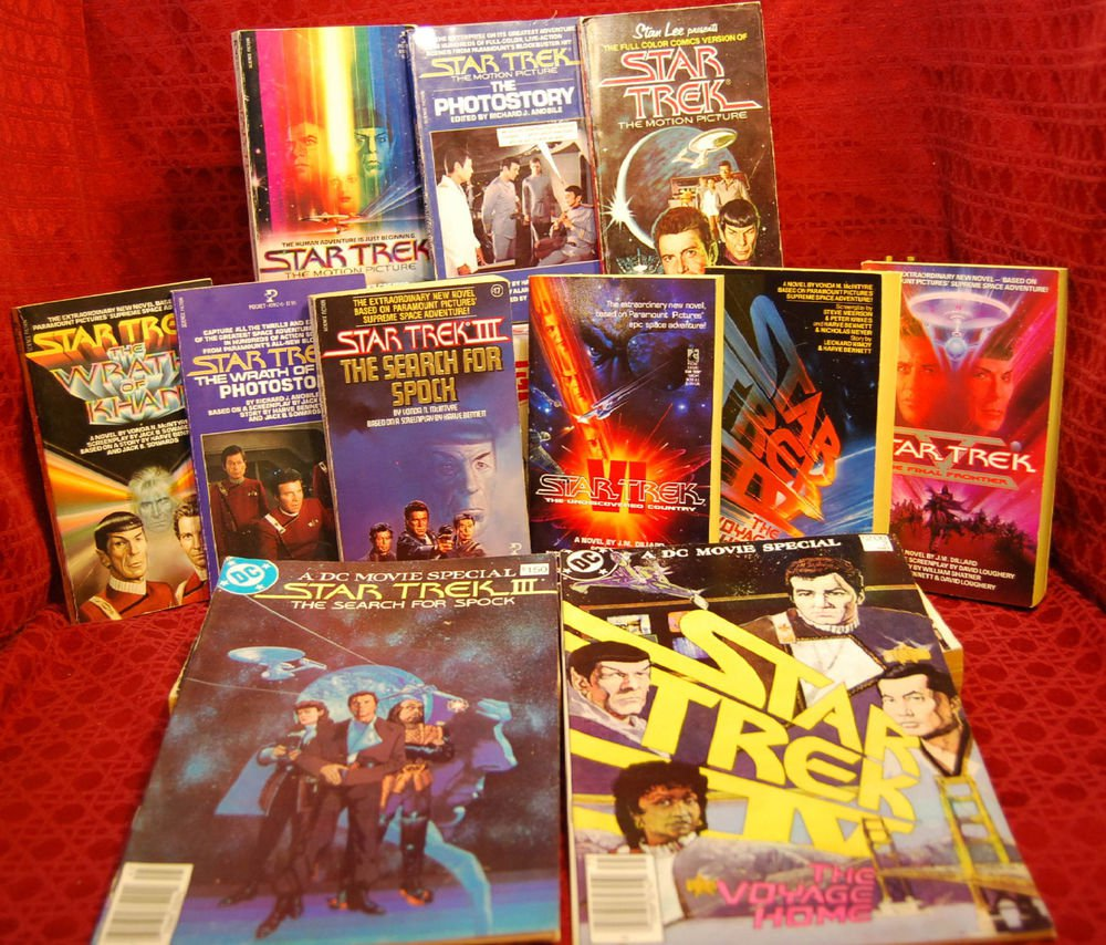 STAR TREK The Original Series TOS Movies Book Collection