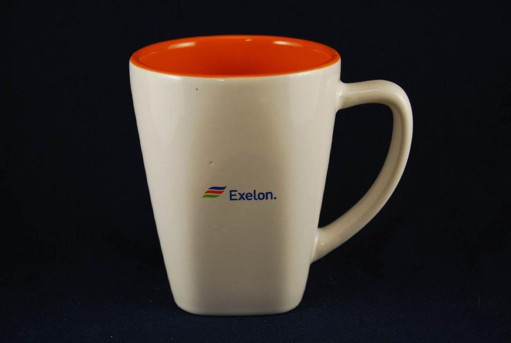Exelon Logo Coffee Mug Cup White Orange Ron Santo Walk Cure Diabetes JDRF