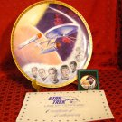 STAR TREK USS Enterprise (NCC-1701) Plate with Kirk, Spock, McCoy, Scott, Uhura