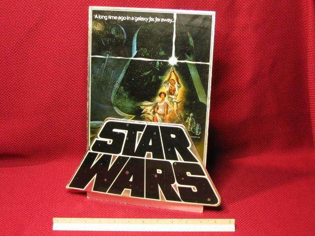 STAR WARS Countertop Standee 3-D Display RARE / Extinct? (1982)