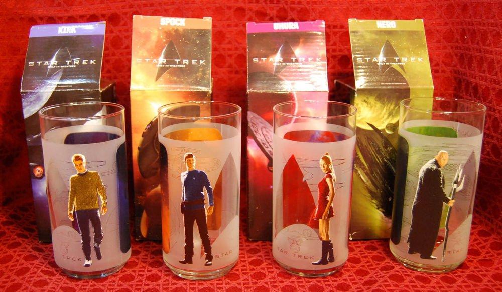 STAR TREK Commemorative Glasses (set of 4) from Burger King (2009)