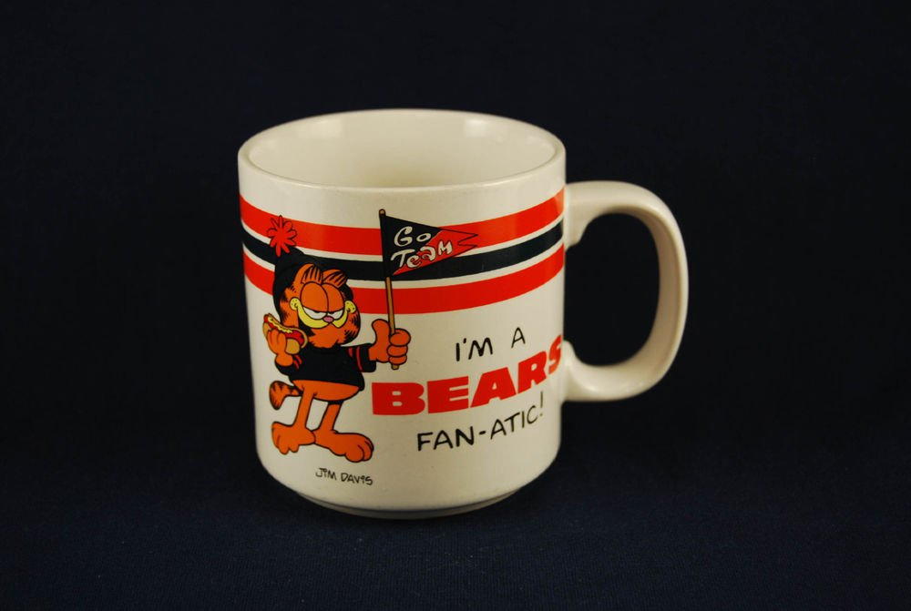Chicago Bears NFL Football Ceramic Coffee Mug Cup Garfield FAN-ATIC Fanatic