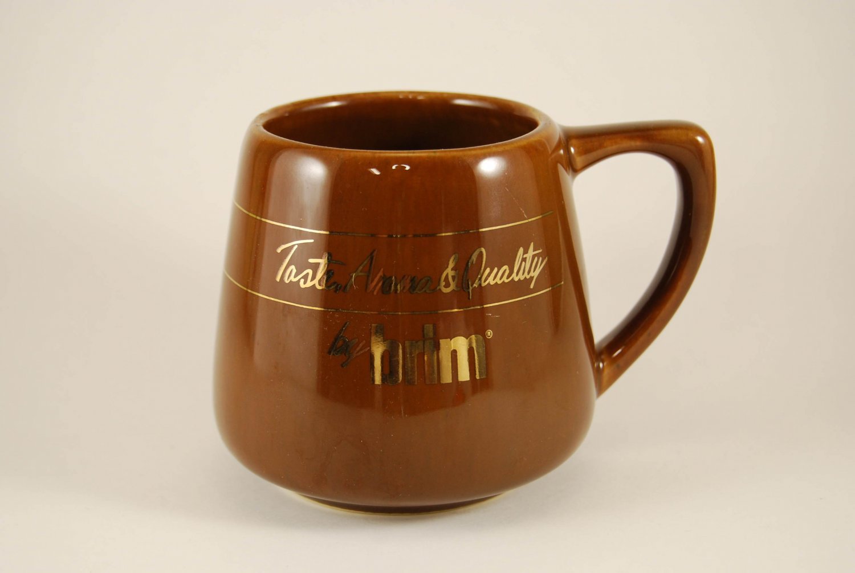 Vintage brim Taste Aroma Quality Ceramic Brown Coffee Mug Cup