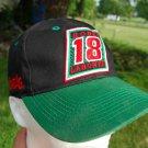 Vintage NASCAR Bobby Labonte #18 Gibbs Racing Cintas Cap Hat Black Adjustable