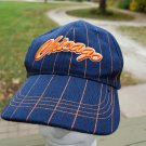 Chicago WINDY CITY Bears Navy Blue Orange Pinstripe Adjustable Cap Hat