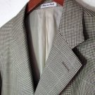 Pal Zileri Made in Italy 3 Button Blazer Sports Jacket Houndstooth Silk Wool