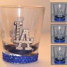 Official Licensed MLB LA Dodgers 2oz Shot Glass with Swarovski Crystal Bling