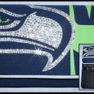 Official Licensed NFL Seattle Seahawks Organizer Mesh Wallet with Swarovski Crystal Bling