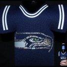 Official Licensed NFL Seattle Seahawks Beer Bottle Jacket Sleeve with Swarovski Crystal Bling